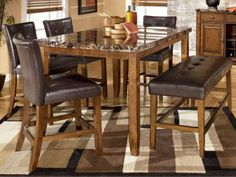 6 Pc. Counter High Dining Set D328-32-6PC Lacey, Furniture Factory Direct
