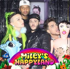 Adam having fun at Miley's b-day party