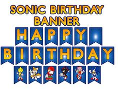 Sonic the Hedgehog™ (Inspired) Digital Birthday Banner
