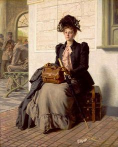 Going into the World by Evert Jan Boks, 1838-1914, Dutch
