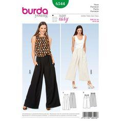 Patron BURDA 6544 T 34 à 44 : Pantalon