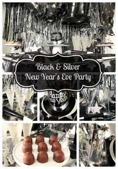 We can't wait to show you all of the lovely details of this classic black and silver New Year's Eve party we planned using supplies from Amols'! New Years Eve Decorations, Champagne Party, Nye Party, New Year Celebration, New Years Eve Party, Happy New Year, Black Silver, Events, Open House