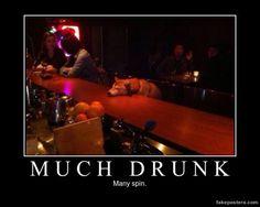 Much Drunk - Demotivational Poster