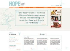Therapy Center Template - Build the online presence for your therapy, community, or children's center with this bright and friendly template. The generous room for text allows for detailed descriptions of your services, staff, and resources.  Upload photos and play with color to make this site your own.
