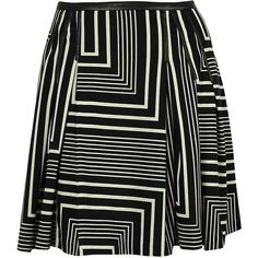 Calvin Klein Women's Plus-Size Printed Pleat Skirt with PU (97 PEN) ❤ liked on Polyvore featuring skirts, plus size, calvin klein skirts, calvin klein, knee length pleated skirt, pleated skirt and womens plus size skirts