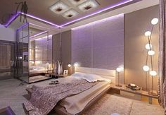 luxury bedrom design with glass bathroom inside, Photo luxury bedrom design with glass bathroom inside Close up View.