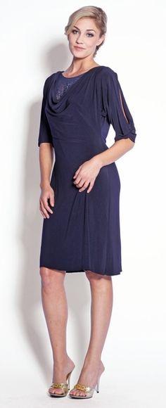 Eliza J Pocket Detail Crepe Shift Dress Stitch Fix Dress, Stitch Fix Outfits, Work Dresses For Women, Nice Dresses, Navy Blue Dresses, Purple Dress, Long Sleeve Work Dress, Mid Length Dresses, Blue Fashion