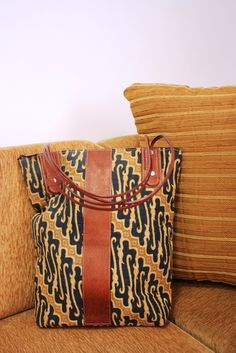 High Quality Handmade Batik Leather Bag , Custom Design     $20    #batik #batikbag #bag #leatherbag #leather
