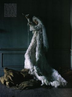 Lady Grey I Vogue Italia I Couture Supplement I March 2010 I Photographer: Tim Walker I Editor: Jacob K I Models: Imogen Morris-Clarke, Stella Tennant.