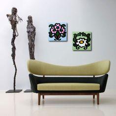 """Peranakan tile"" Painting Acrylic on Canvas 30 x 30 cm each 750S$ each Limited Edition Giclée Canvas Prints available @ 149S$"