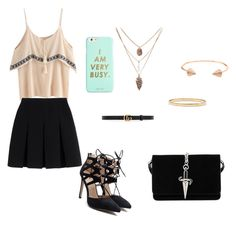 """""""¡¡como baila!!"""" by bellacala ❤ liked on Polyvore featuring CC SKYE, Kate Spade, Alexander Wang, Gucci, Cesare Paciotti and ban.do"""