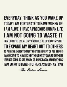 Dalai Lama Quote // Art Print //