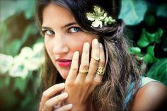 Markiz Ring Gold Ring Lace ring Princess Jewellery by avigailadam1, $35.00