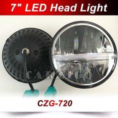 CZG720 Angel Eye DRL Hi/lo Beam 7'' LED Headlight for Jeep Wrangler JK TJ LJ H4 Front Driving Headlamp For Harley for Land Rover