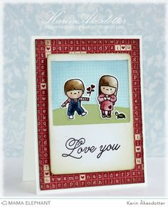 Mama Elephant: December Challenge - Valentine's Day Cards | card by Karin