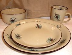 rustic dinnerware lodge 16 piece set | Home » Kitchen Decor » Rustic Cabin & Lodge Dinnerware » Wildlife ...