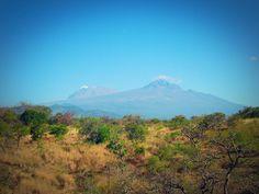 Views on Mount Kilimanjaro from the Lake Chala campsite #lakechala #mountkili #tanzania #africa #travel #camping