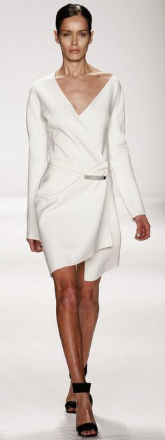 kaufmanfranco fall-winter 2014-15 - short white dress