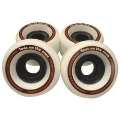 Toes On The Nose 72Mm White Longboard Wheels (Set Of 4). Replace or upgrade the wheels on your longboard skateboard with these 72-mm longboard wheels from Toes on the Nose.