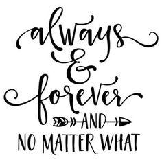 Silhouette Design Store - View Design #177358: always & forever phrase