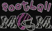 Football Mom with pink zebra rhinestone by designsbyivey on Etsy, $18.00