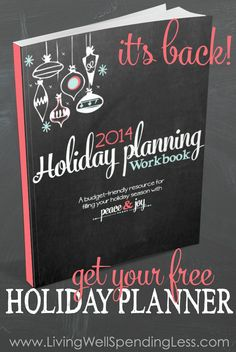 November: Longing for a holiday filled with joy and peace? Use this free printable holiday planner to focus your priorities, set your holiday budget, organize your schedule, prepare your gift list, and plan your menu. Such a great resource! Christmas 2014, Christmas And New Year, Winter Christmas, All Things Christmas, Christmas Crafts, Budget Holidays, Holidays And Events, Holiday Planner, Christmas Planning