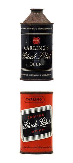 Vintage Carling Black Label beer cans Cool Packaging, Vintage Packaging, Brand Packaging, Beer Can Collection, Old Beer Cans, Beer Brands, Branding, Bottle Design, Craft Beer