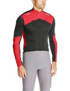 Pearl Izumi  Ride Mens Pro Aero Long Sleeve Jersey Medium BlackTrue Red ** Want additional info? Click on the image.
