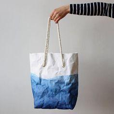 Indigo-dyed Washable Paper Bag: Warm Grey Company