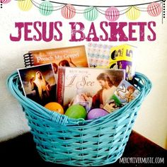 I love this idea! Jesus Baskets. Celebrate Easter with the focus on Christ instead of the Easter bunny. Fill their baskets with books, cd's, pictures...lots of great ideas on this blog!! #easter