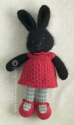 Mesmerizing Crochet an Amigurumi Rabbit Ideas. Lovely Crochet an Amigurumi Rabbit Ideas. Knitted Stuffed Animals, Knitted Bunnies, Knitted Animals, Knitted Dolls, Crochet Toys, Knit Or Crochet, Knitted Flowers, Amigurumi Patterns, Knitting Patterns