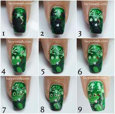 Cheeky Frog Nail Art Design feat. Femme Fatale Noble Garden
