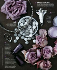 Mix of jewellery and products by prop stylist Jocelyne Beaudoin (via Art Department).