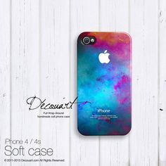 Galaxy iPhone 5 case iPhone 4s case teal emerald by Decouart, $23.99