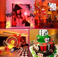 Casino I Las Vegas themed Party Ideas Casino Theme Parties, Casino Party, Party Themes, Party Ideas, Moms 50th Birthday, Las Vegas Party, Cinema, Casino Royale, Halloween Party