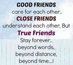 Merveilleux Best Friend Quote: Good Friends Care For Each Other.