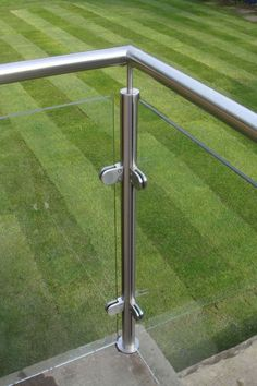 Glass Railing for Balcony . Glass Railing for Balcony . Stainless Posts and Glass Balcony Derbyshire Glass Balcony Railing, Metal Deck Railing, Patio Railing, Balcony Railing Design, Roof Design, Fence Design, Staircase Design, Metal Handrails, Patio Stairs