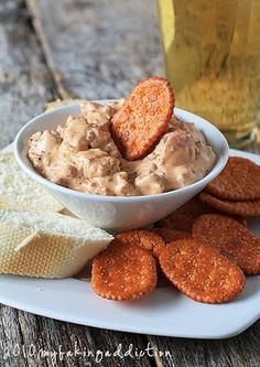 Spicy Sausage dip. Easy enough to cook as it would be to eat. Not healthy by any means! wow.
