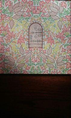 Door. Secret Garden Door, Garden Doors, Johanna Basford, Colouring, Frame, Color, Home Decor, Gardens, Picture Frame
