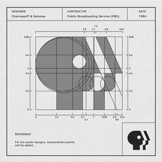 Designer: Chermayeff & Geismar Contractor: PBS Patti Siler Date: 1984 Information. The P head logo was originally created by Herb Lubalin in 1971 after there very first word stack logo. It's only until 1984 when Chermayeff & Geismar modified it. Logo Inspiration, Arquitectura Logo, Logo Branding, Branding Design, Typo Logo, Logo Process, Learning Logo, Famous Logos, Art Logo