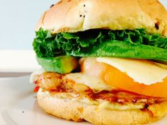 Good morning! Let's get to this week's lunch specials. Our first special is a Chipotle Chicken and Avocado Sandwich; Chipotle marinated Chicken Breast placed on a Toasted Onion Roll with Lettuce, Tomatoes, Avocadoes, Monterey Jack Cheese, and finished with a homemade Southwest Mayo.