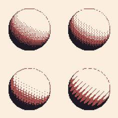 Realtime dithered spheres pixelart animation via /r/Art. Pixel Art Gif, Pixel Drawing, Pixel Art Games, Pix Art, 8 Bits, Pixel Animation, Pixel Design, Art Plastique, Art Tips