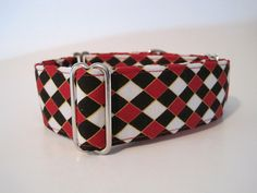 Red Martingale Dog Collar 1.5 Martingale Collars by HuggableHound, $19.99