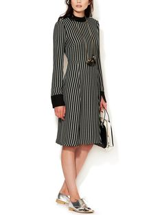 Crepe Pleated Skirt Dress  by Marni at Gilt