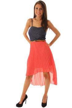DHStyles Women's Coral Denim Cute Ruffled High-Low Dress with Belt - 11 #sexytops #clubclothes #sexydresses #fashionablesexydress #sexyshirts #sexyclothes #cocktaildresses #clubwear #cheapsexydresses #clubdresses #cheaptops #partytops #partydress #haltertops #cocktaildresses #partydresses #minidress #nightclubclothes #hotfashion #juniorsclothing #cocktaildress #glamclothing #sexytop #womensclothes #clubbingclothes #juniorsclothes #juniorclothes #trendyclothing #minidresses #sexyclothing…