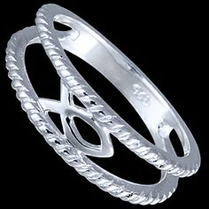"""Silver ring, fish Silver ring, Ag 925/1000 - sterling silver. Christian sign - fish symbol. The word fish comes from Greek word """"""""Ichtys"""""""", which means Jesus Christ, Son of God, Messiah."""