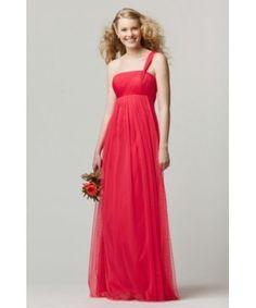 WTOO Watters 654 Bridesmaid Dress Rosa A-line One Shoulder