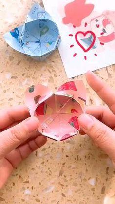 Diy Crafts Hacks, Diy Crafts For Gifts, Diy Arts And Crafts, Creative Crafts, Cool Paper Crafts, Paper Crafts Origami, Diy Paper, Paper Art, Instruções Origami