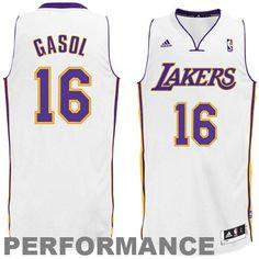 adidas Pau Gasol Los Angeles Lakers Revolution 30 Swingman Alternate Jersey  - White 801f08d62