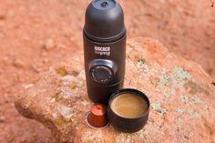 Minipresso NS + Nespresso® Pod = Hot espresso anywhere, anytime! #portableespresso #espressomaker #wacaco #minipresso #minipressons #espresso #espressomachine #camping #hiking #coffee #coffeemaker #giftideas #campinggear